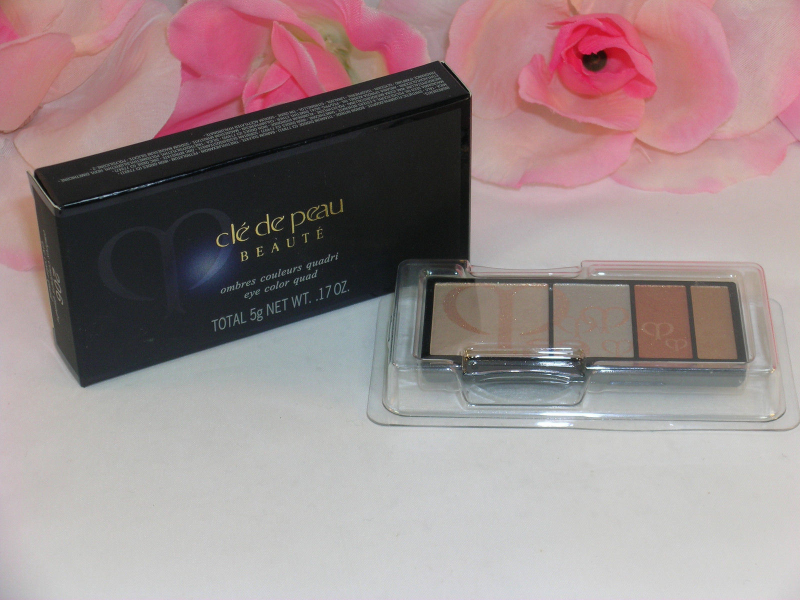 Primary image for New Shiseido Cle De Peau Beaute Eye Shadow Quad Refill #206 Colors & Highlights