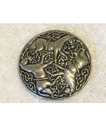 "VINTAGE VIKING EPONA BROOCH pin pewter looking about 2"" around - €16,85 EUR"