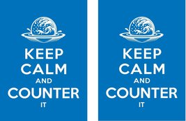Keep Calm And Counter it- 100 Iconic Elemental Blue Shuffle-Tech Gloss Finish Sl - $11.99