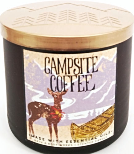 Bath Amp Body Works Campsite Coffee Frosted Jar Candle 14 5
