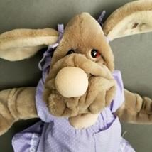 Vintage Ganz Bros Wrinkles Hand Puppet Plush Girl Dog  - $22.79