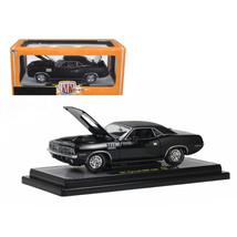 1971 Plymouth Cuda Hemi Black with Black Vinyl Roof 1/24 Diecast Model C... - $60.82