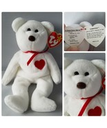 Ty Beanie Baby Valentino P.V.C Pellets Bear Tag Error 5th Generation Mint - $594.60