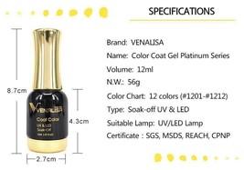 Shining Nail Gel Venalisa Glitter UV LED 12 ml Super Effect Perfect Soak... - $4.46+