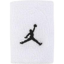 "Nike Jordan Jumpman 4"" Dominate 2-Pack Wristbands White Black Basketball - $14.99"