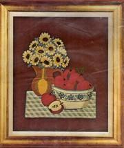 Vintage Bucilla Needlecraft Still Life Picture Crewel Embroidery Kit  Flowers - $14.44