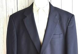 JOS A BANK Navy Blue 2 Gold Button Sport Coat  100% Wool Blazer Mens 44R... - $48.37