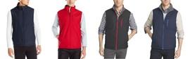 NEW Men's IZOD Performance Reversible Ripstop/Fleece Vest Jacket MSRP $80 - $32.73+
