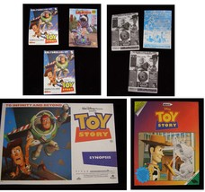 Disney Toy Story Lot Mexican Sticker Book Japanese Flyers Synopsis 1990s - $28.99