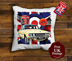 Rover P6 V8 Cushion Cover, Rover P6, Union Jack, Mod, Target, Poppy, Cushion - $9.01+