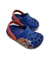 Paw Patrol Crocs Boys 6 Toddler Blue Red Clogs Shoes Nickelodeon Rubber ... - $29.99