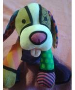 Romero Britto Pop Plush Dog By Enesco Miami Artist ❤ - $18.36