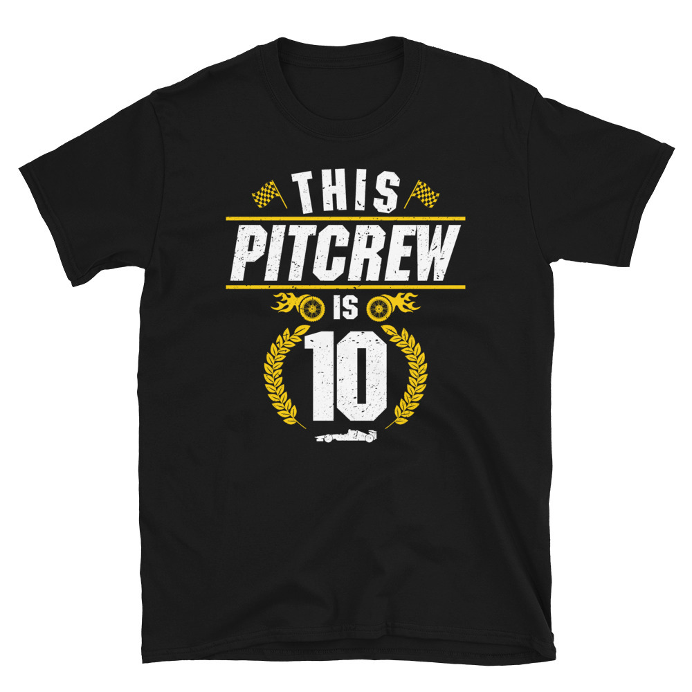 Primary image for Boys Racecar Driver Birthday This Pit Crew Is 10 Racing Shirt T-shirt