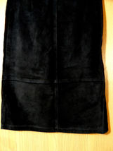 SKOTTS SUEDE Washable Leather Skirt sz 4 Black Midi Straight pencil fit Canadian image 6