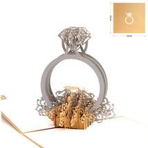Diamond Ring--3D Wedding Card, 3D Greeting Card, Pop Up Card, Pop Out Card - $5.42