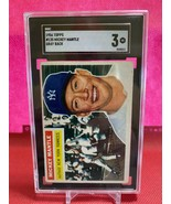 1956 Topps Mickey Mantle #135 SGC 3 Gray Back New York Yankees baseball ... - $1,732.50