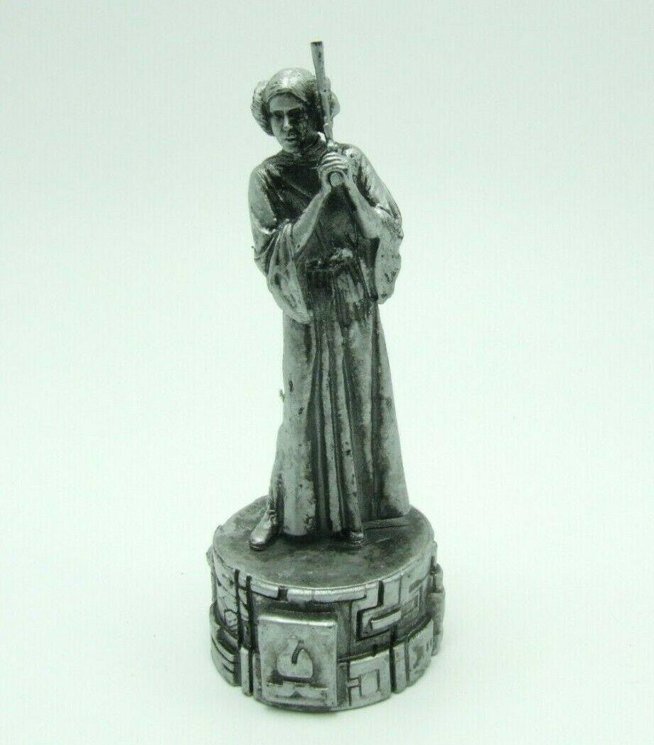 Star Wars Saga Edition Silver Princess Leia Bishop Chess Replacement Game Piece image 9