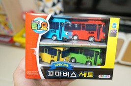 Tayo Special Pull Back Little Small Mini Toy Bus Car Vehicle 4 Pieces Set image 2