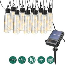 Waterproof LED Outdoor Solar String Lights, 24 Ft Patio Lights UL listed... - $26.41