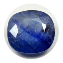 Natural Sapphire Gemstone 5 Carat Blue Cushion Shape Faceted Loose Stone - $20.30