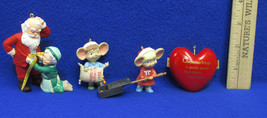 1993 Hallmark Keepsake Heart Popping Good Times A Fitting Moment Ornaments Lot 3 - $12.22