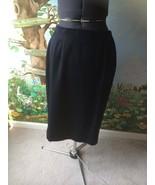 Kristen Leigh Dark Navy Pure Virgin Wool Skirt SZ 17/18 - $18.81
