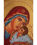 Greek Orthodox Icon, Sweet Kissing Mother of God Icon, Byzantine Icon, h... - $220.00