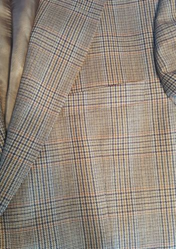 Brooks Brothers 346 blazer 44  jacket Wool brown plaid