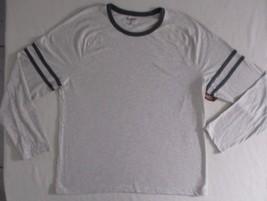 Arizona Jeans Men T Shirt 2XL Beige Solid Crew Cotton Polyester 17111 image 1
