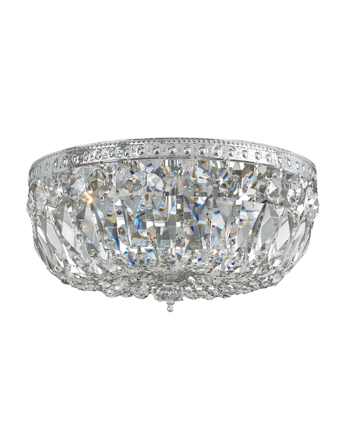 Primary image for Hand Cut CRYSTAL Ceiling FLUSH MOUNT Chandelier NEIMAN MARCUS Horchow New