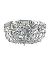 Hand Cut CRYSTAL Ceiling FLUSH MOUNT Chandelier NEIMAN MARCUS Horchow New - $286.11
