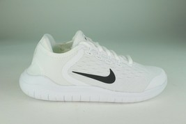 NIKE FREE RN 2018 YOUTH SIZE 3.5 TO 5.5 WHITE BLACK COMFORTABLE NEW - $144.67