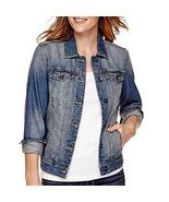 St. John's Bay Denim Jacket Size S New Medium Wash - $29.61 CAD