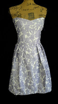 NEW Cynthia Steffe Cocktail Dress 12 purple white floral full pleat pock... - $29.95