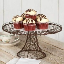 Dessert Stand Tray Twisted Wire Cake Cupcake Rustic Farmhouse Kitchen De... - $36.57