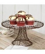Dessert Stand Tray Twisted Wire Cake Cupcake Rustic Farmhouse Kitchen De... - $36.57