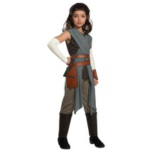 Girl's Star Wars VIII Deluxe Rey The Last Jedi Halloween Costume M 8-10 ... - $19.79