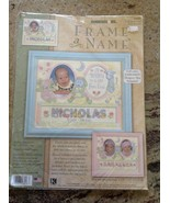 Dimensions Counted Cross Stitch Kit Gift From God Frame a Name Birth Rec... - $29.69