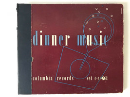 "Dinner Music Columbia Records 78 RPM 10"" 4 Record Album C-21 198-1K - £11.55 GBP"