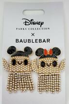 Disney Halloween 2021 Baublebar Mickey And Minnie Pear Grost Earrings NWT - $79.19