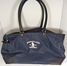 Disneyland Resort Extra Large Navy Blue Nylon Duffle Tote Travel Bag - $34.91