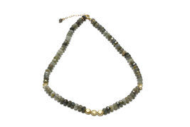 Labradorite necklace,beaded necklace,gold necklace,semiprecious necklace - $84.00+