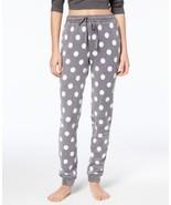 Jennifer Moore Womens Printed Jogger Pajama Pants Grey Dots - $21.99