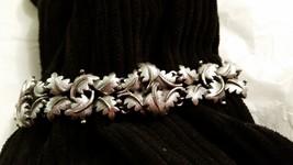 Silver Tone Leaf Vintage Bracelet - $17.99