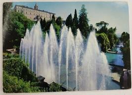 Villa D este 16th Century Tivoli Italy Fotocolor Kodak Postmarked Postcard - $38.65