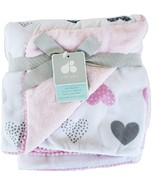 Baby Blanket Polka Dot Velboa Nursery Blanket Pink by Just Born - $59.00