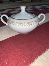 Vintage Sheffield Fine China Japan Imperial Gold Sugar Jar Bowl w/Lid  - $15.00