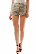 One Teaspoon Women's Fluro Speckle Hawks Shorts Size 8 Multi Color RRP $... - $69.29