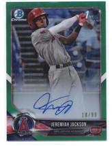 2018 Bowman Draft Chrome Autographs Refractors Green Jeremiah Jackson RC AUTO/99 - $250.00