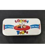 Looney Tunes Stylus Pen Pals Tasmanian Devil 1994 Chrome & Gold Pen Warn... - $20.53